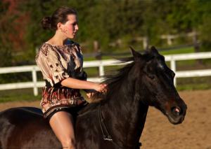 marika gerhart bridleless riding