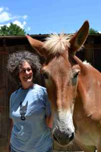 Ann Firestone and Rescue Mule