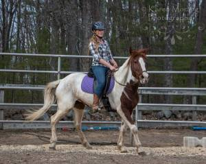 Keeping things simple under saddle. Photo by Karen Morang.